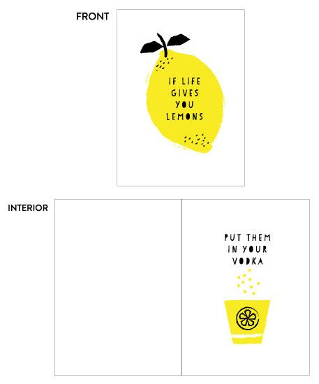 greeting card - Lemon life 2 by iamtanya