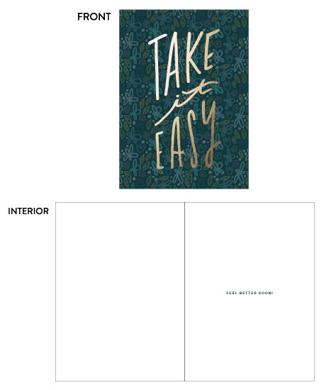 greeting card - Take it Easy by Olivia Herrick Design