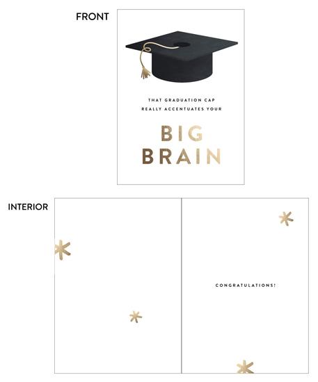 greeting card - Big Brain by Erica Krystek