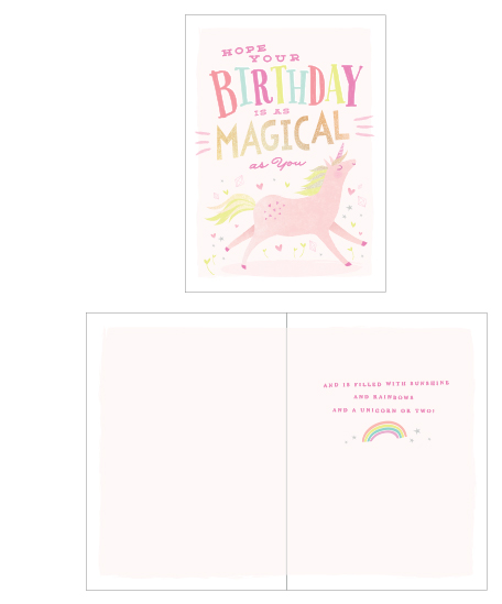 greeting card - Magical Unicorn by Karidy Walker