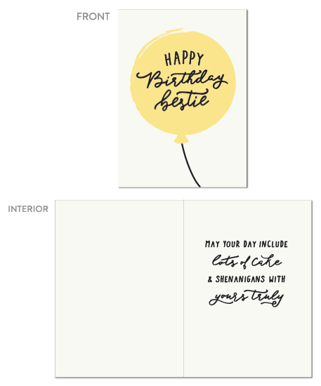 greeting card - Happy Birthday Bestie by Hooray Creative