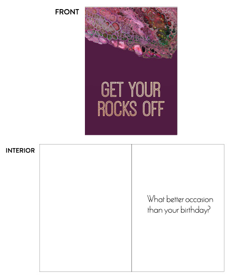 greeting card - rocks off by raven erebus