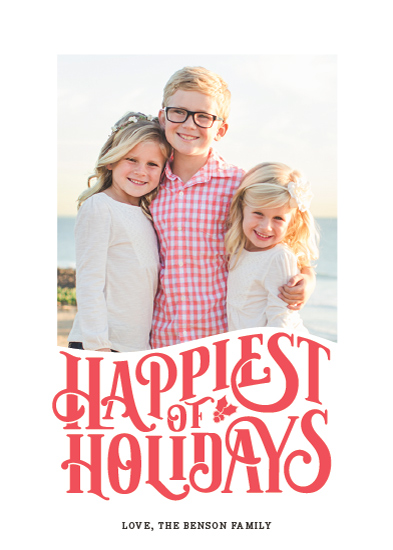 holiday photo cards - Happy Holly by Sarah Brown