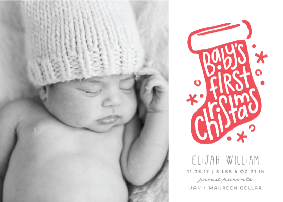 holiday photo cards - Baby's First Stocking by Laura Hankins
