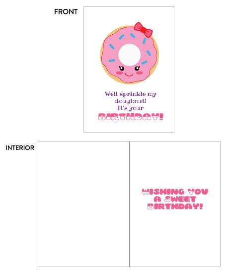 greeting card - Sprinkle My Doughnut Birthday by Lily Wu