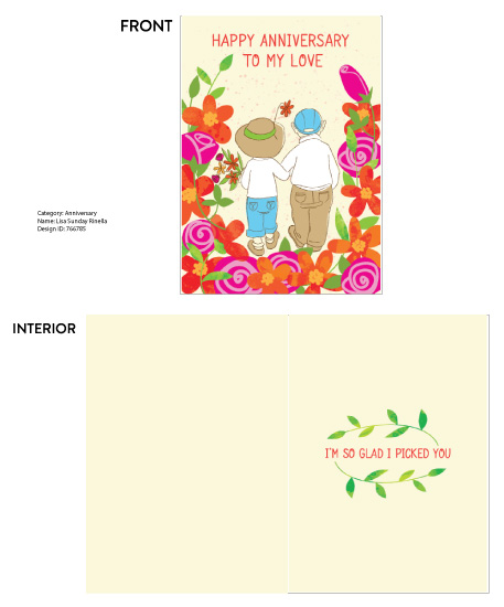 greeting card - Happy Anniversary To My Love by Monette Pangan
