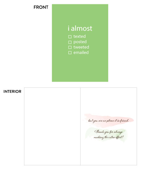 greeting card - PH Phone it in by Paper Hideaway