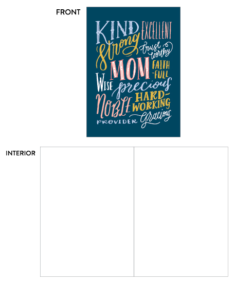 greeting card - proverbs 31 mom by Frooted Design