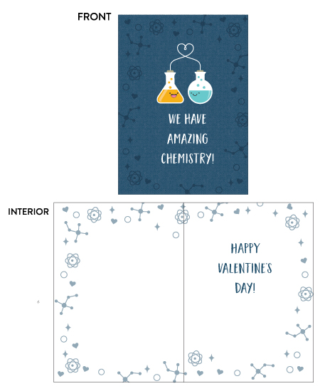 greeting card - Chemistry Love by Coco and Ellie Design
