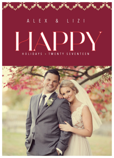 holiday photo cards - HAPPY HOLIDAY, Wedding by Tresa Meyer-Clark