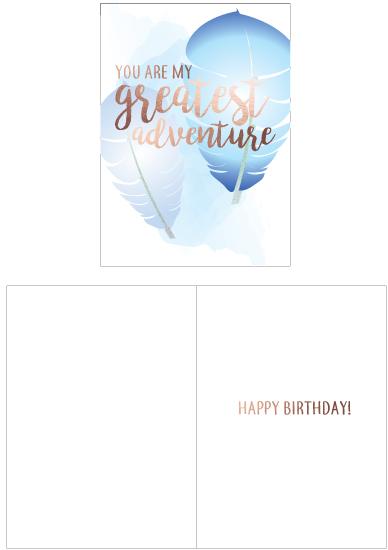 greeting card - Greatest adventure by lauren berkery