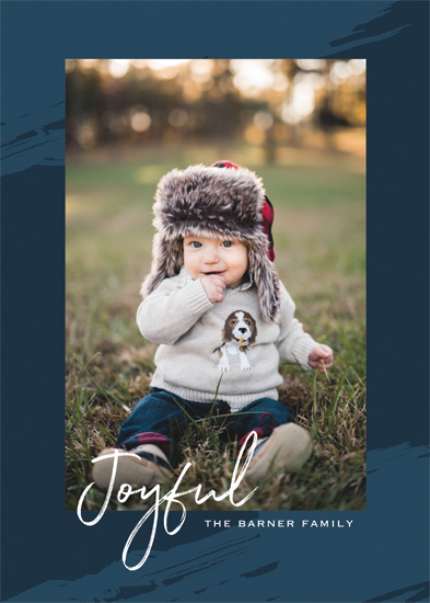 holiday photo cards - Seasonal Brushstrokes by Gray Star Design