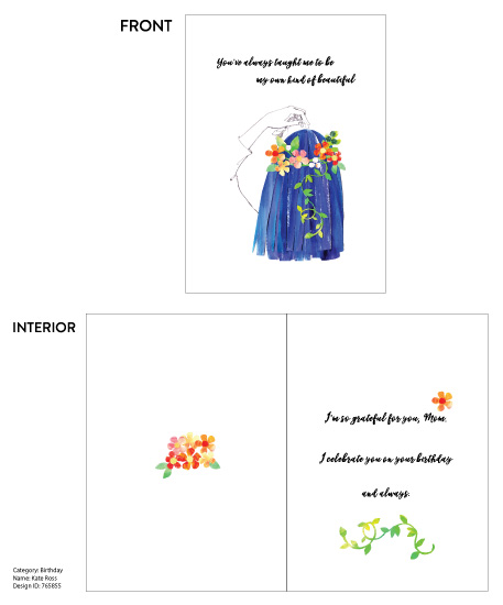 greeting card - My Own Kind of Beautiful by Monette Pangan