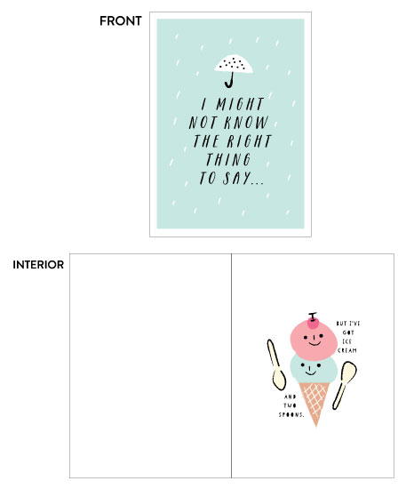 greeting card - Ice cream and two spoons by iamtanya
