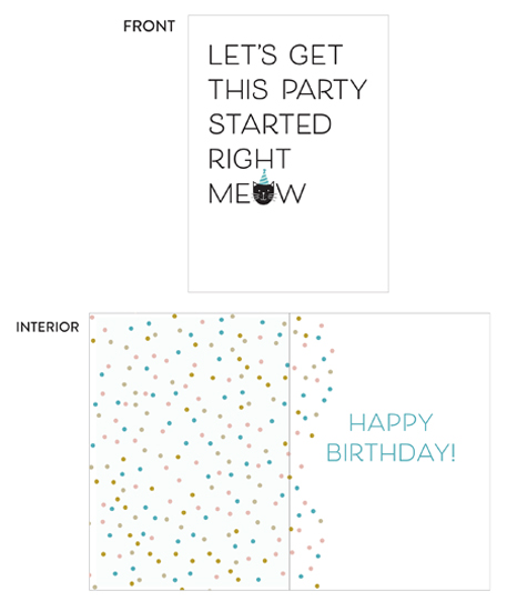 greeting card - Let's get this party started by The Chatty Press