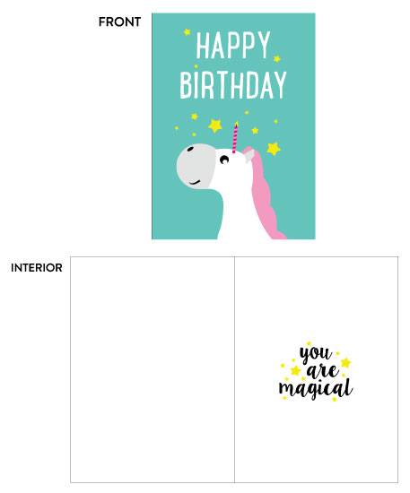 greeting card - Birthday Magic by Christina Barbieri