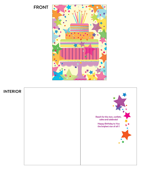 greeting card - Shining Stars Cake by Tina Cash