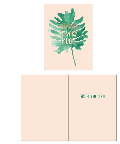 greeting card - Monstera Leaf Thanks by Erika Firm