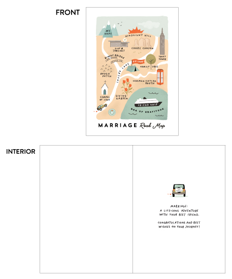 greeting card - Marriage Road Map by Calico Hill Creative