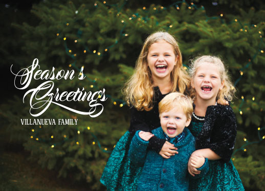 holiday photo cards - Season's Wish by Rose Pajaroja