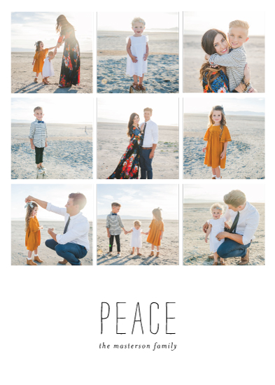 holiday photo cards - Quiet Peace by Fig and Cotton