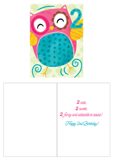 greeting card - 2 sweet Owl by Kristen Cavallo