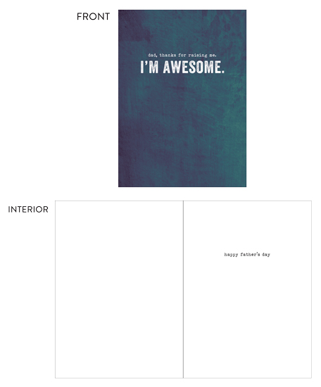 greeting card - Awesome Father's Day by Eric Clegg