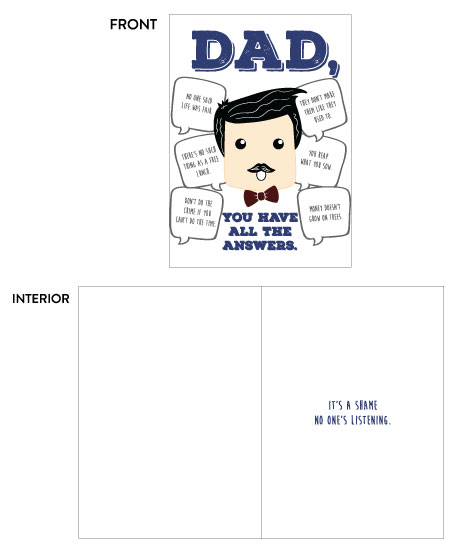 greeting card - Dad Answers by Lunar Thoughts