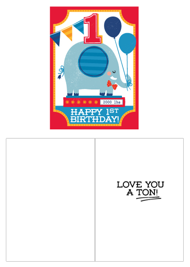 greeting card - Love you a TON! by Kristen Cavallo