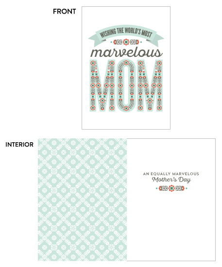 greeting card - Marvelous Mom by Pera Press