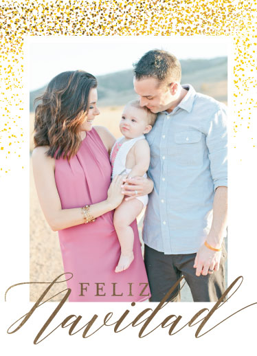 holiday photo cards - Feliz Navidad by Rose Pajaroja