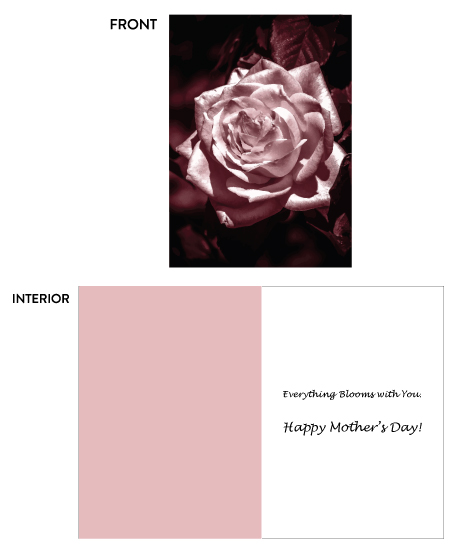 greeting card - Everything Blooms with You by Crich