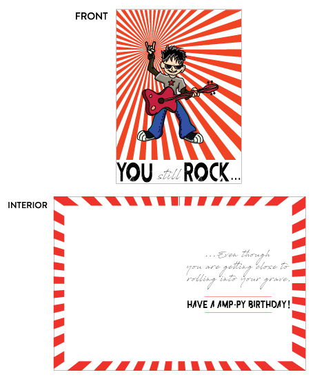 greeting card - You Still Rock by Sitara