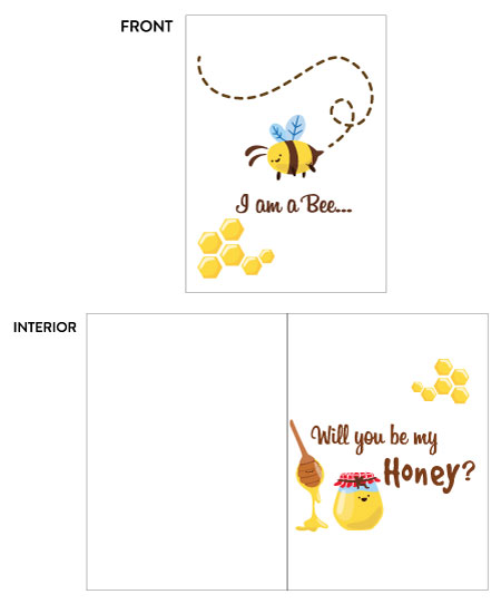 greeting card - Honey Bee by Rose Pajaroja