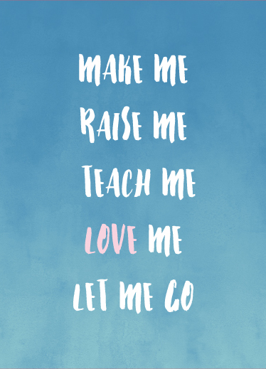 greeting card - Love me and let me go by Christy Sawyer