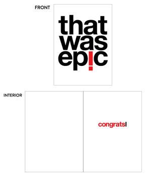 Epic Congrats!