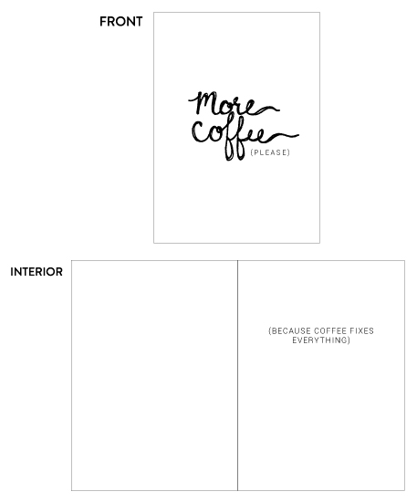 greeting card - More Coffee Kind of Day Greeting Card by Katrina Lindhorst