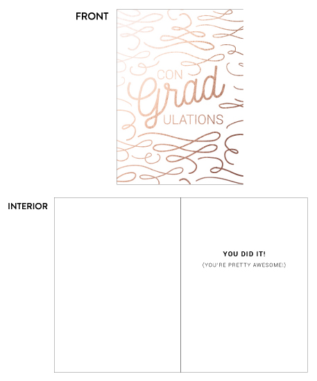 greeting card - Swirls of Congratulations Graduation Card by Katrina Lindhorst