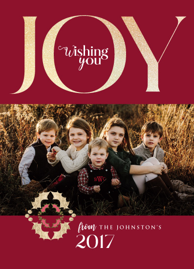 holiday photo cards - Joyous and Loved by Tresa Meyer-Clark