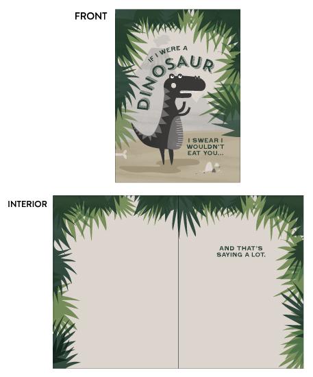 greeting card - Jurassic Love by Kayla King