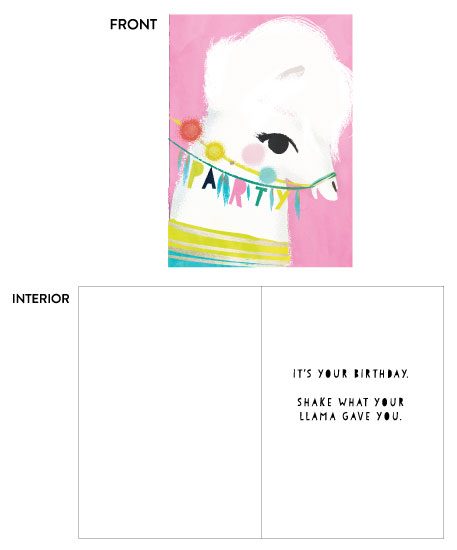 greeting card - Llama Birthday by Lori Wemple