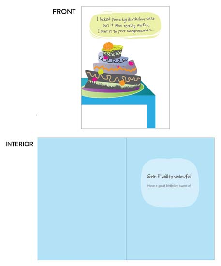 greeting card - Awful Cake by Lois DeCastro, AfternoonArts