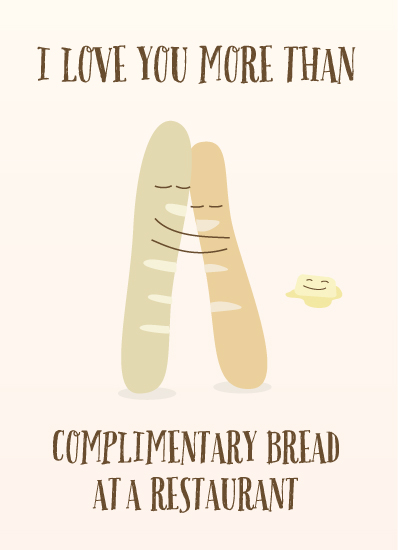greeting card - Bread Love by Will Baab