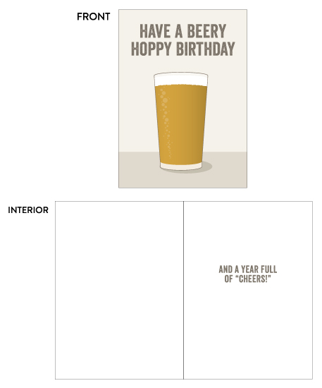 greeting card - Simple Beery Hoppy Birthday by Paper Route Studio