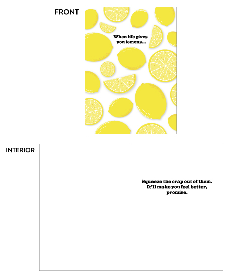 greeting card - Squeeze the Lemons by Paper Route Studio