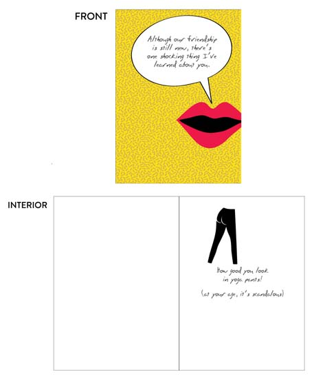greeting card - Yoga Pants by Lois DeCastro, AfternoonArts