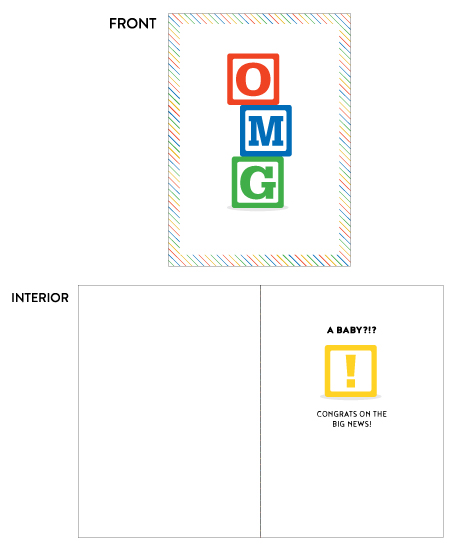 greeting card - OMG A Baby!? Congrats by Paper Route Studio
