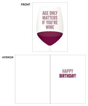 Aging Like Wine Birthday Card