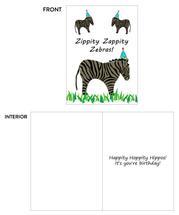 Birthday Zebras by SMDesigns