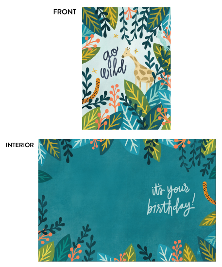 greeting card - Go Wild by Pace Creative Design Studio